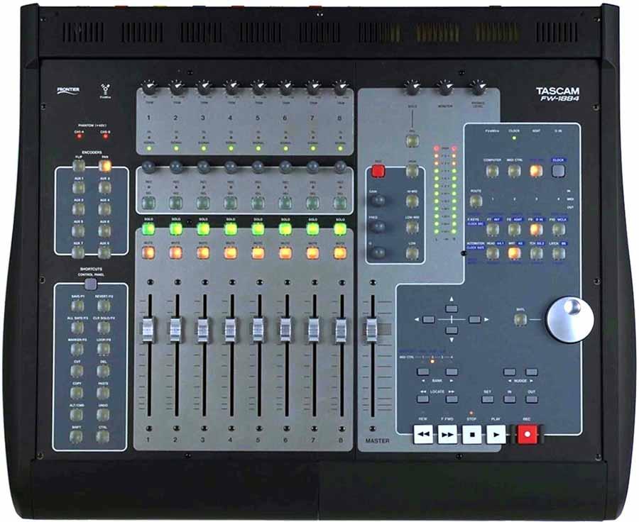 tascam fw 1884 firewire audio midi interface daw controller future style. Black Bedroom Furniture Sets. Home Design Ideas